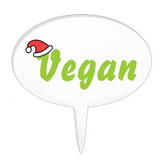 Vegano con el sombrero del navidad figuras para tartas
