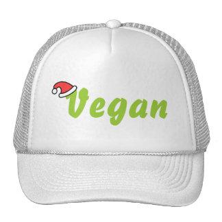 Vegano con el sombrero del navidad gorras