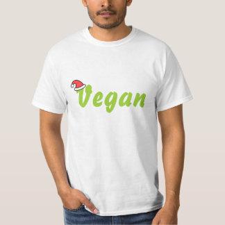 Vegano con el sombrero del navidad playera