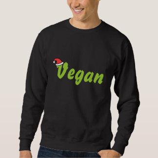 Vegano con el sombrero del navidad pullover sudadera