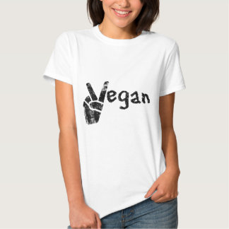 Vegano con símbolo de paz playera