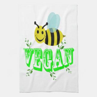 vegano de la abeja toalla de cocina