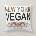 Vegano de Nueva York Cojines
