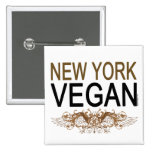 Vegano de Nueva York Pin