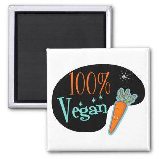 Vegano del 100 por ciento imán cuadrado