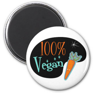 Vegano del 100 por ciento imán redondo 5 cm
