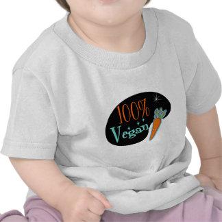 Vegano del 100 por ciento camiseta
