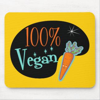 Vegano del 100 por ciento alfombrilla de raton