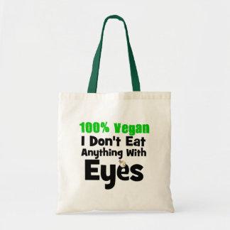 Vegano del 100 por ciento yo no como cualquier cos bolsa tela barata