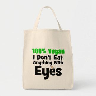 Vegano del 100 por ciento yo no como cualquier cos bolsa tela para la compra