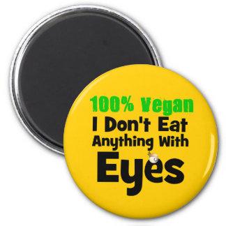 Vegano del 100 por ciento yo no como cualquier cos imán redondo 5 cm