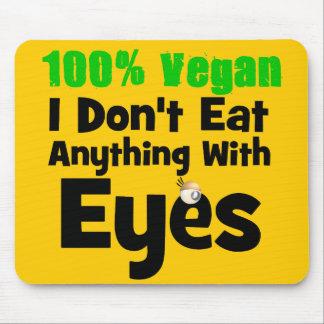 Vegano del 100 por ciento yo no como cualquier cos mousepads