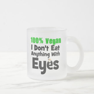 Vegano del 100 por ciento yo no como cualquier cos taza cristal mate