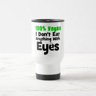 Vegano del 100 por ciento yo no como cualquier cos taza de viaje de acero inoxidable