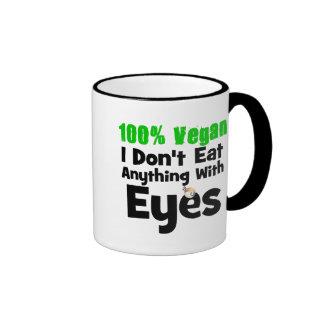 Vegano del 100 por ciento yo no como cualquier cos taza a dos colores