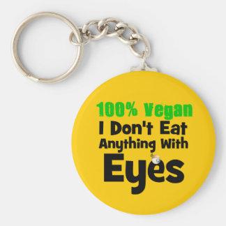 Vegano del 100 por ciento yo no como cualquier llavero redondo tipo pin