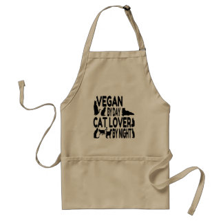 Vegano del amante del gato delantal