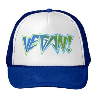 Vegano del azul del eje de balancín gorras