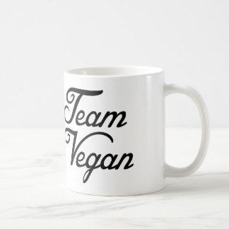 Vegano del equipo taza