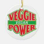 Vegano del poder del Veggie Ornamentos De Reyes Magos