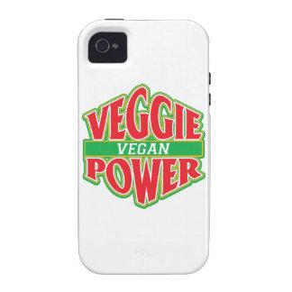 Vegano del poder del Veggie iPhone 4 Fundas