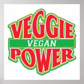 Vegano del poder del Veggie Impresiones