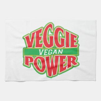 Vegano del poder del Veggie Toallas De Mano