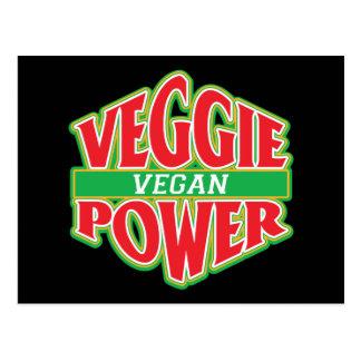 Vegano del poder del Veggie Postales