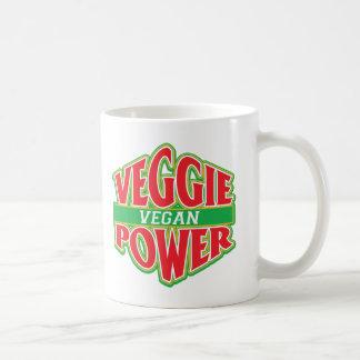 Vegano del poder del Veggie Taza Clásica