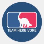Vegano del vegetariano del herbívoro del equipo etiquetas redondas