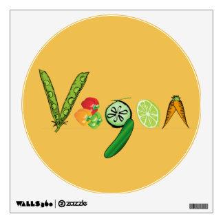 Vegano del Veggie Vinilo Decorativo