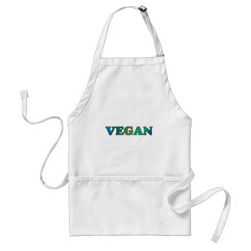 Vegano del verde azul delantal