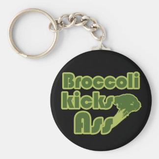 Vegano divertido del retroceso del bróculi llavero redondo tipo pin