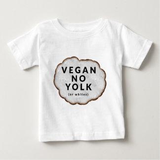 Vegano divertido ninguna yema de huevo playera