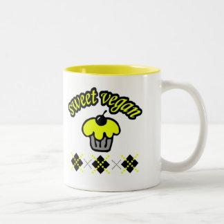 Vegano dulce tazas