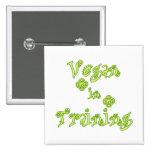 Vegano en el entrenamiento pin