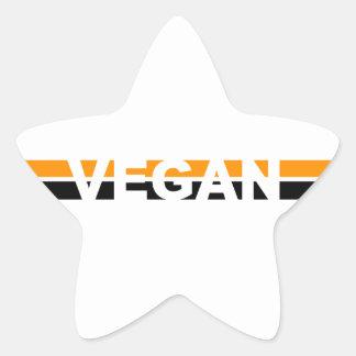 Vegano en las rayas de Halloween Pegatina En Forma De Estrella