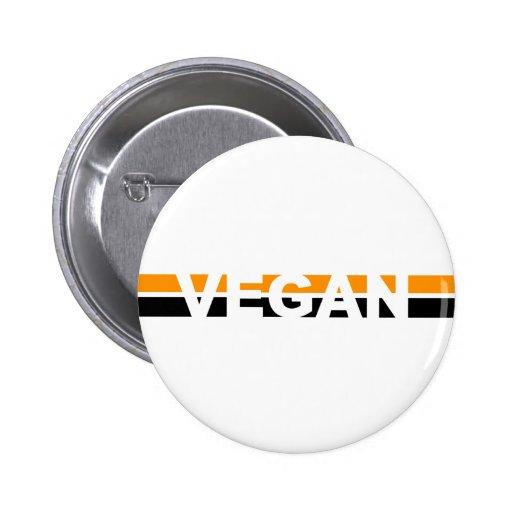 Vegano en las rayas de Halloween Pin Redondo 5 Cm