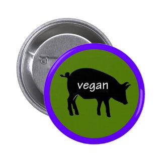 Vegano (en un diseño del cerdo)
