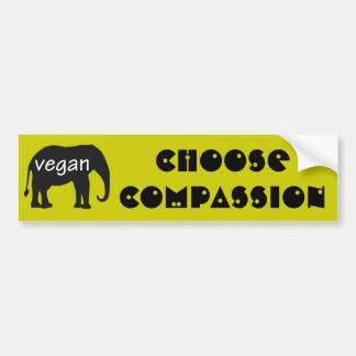 Vegano (en un diseño del elefante) pegatina para auto
