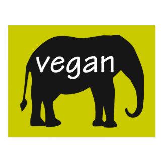 Vegano (en un diseño del elefante) postal