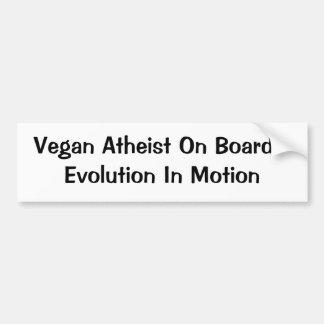 Vegano/evolución atea pegatina para auto