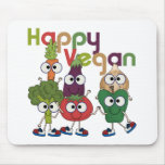 Vegano feliz alfombrilla de ratones