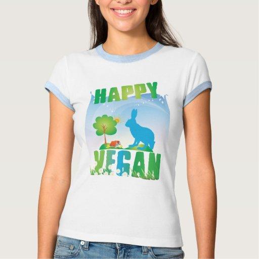 Vegano feliz camiseta