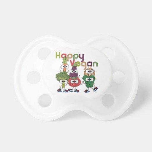 Vegano feliz chupete de bebe