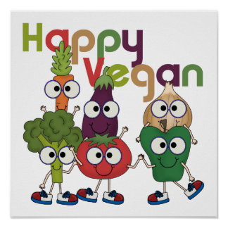 Vegano feliz impresiones
