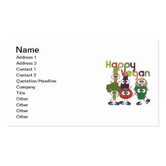 Vegano feliz tarjetas de visita