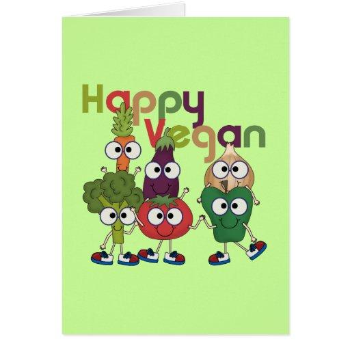 Vegano feliz tarjeta de felicitación