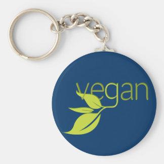Vegano frondoso llaveros