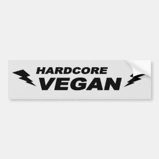 Vegano incondicional pegatina para auto